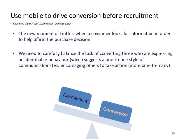 Four pillars and the mobile landscape  • Impulse; the contextualized nature of mobile creates opportunities  61  to drive ...