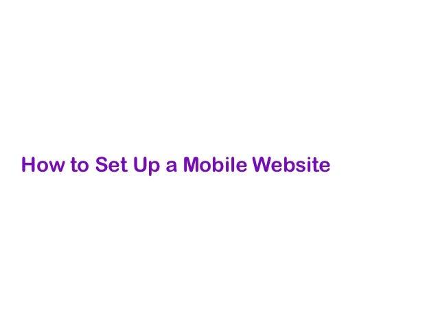 Mobile Website      Standard   Mobile