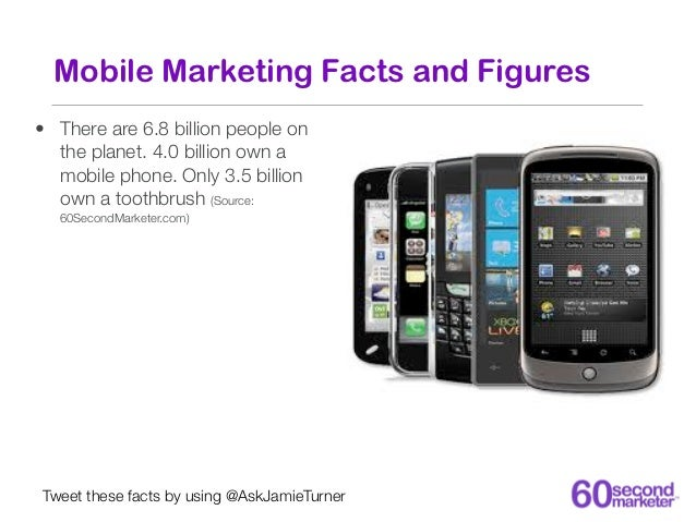 Mobile Marketing Facts and Figures• There are 6.8 billion people on  the planet. 4.0 billion own a  mobile phone. Only 3.5...