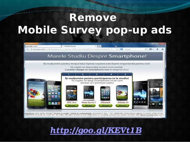 Remove Mobile Survey pop-up ads http://goo.gl/KEVt1B