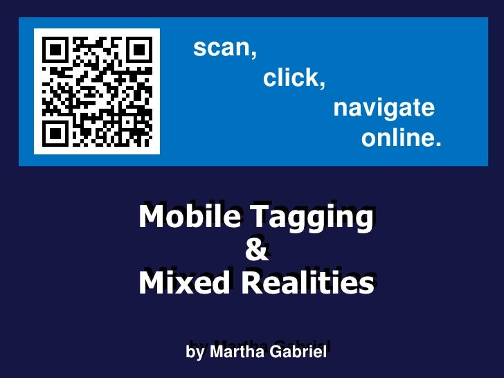 QRcodes & Augmented Reality, by Martha Gabriel