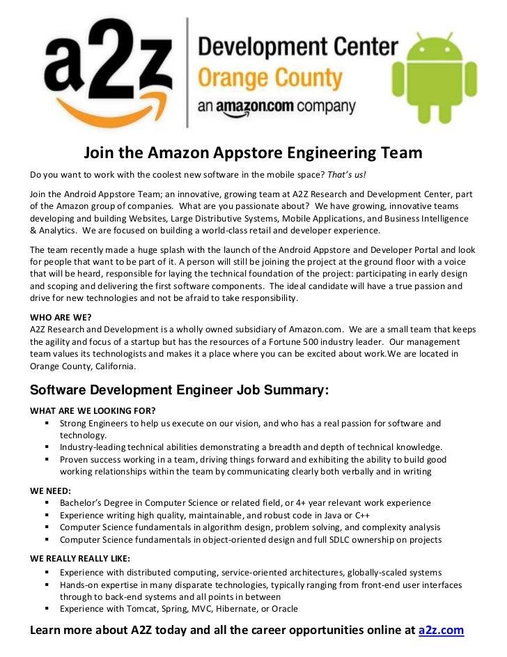 Join the Amazon Appstore Engineering Team