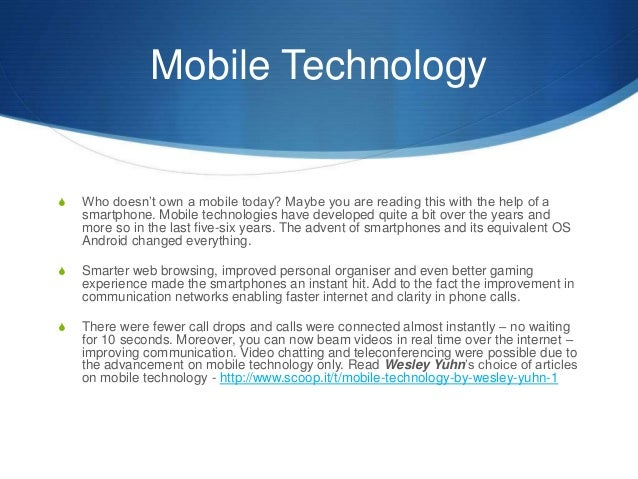 Mobile Technology And It S Meteoric Rise