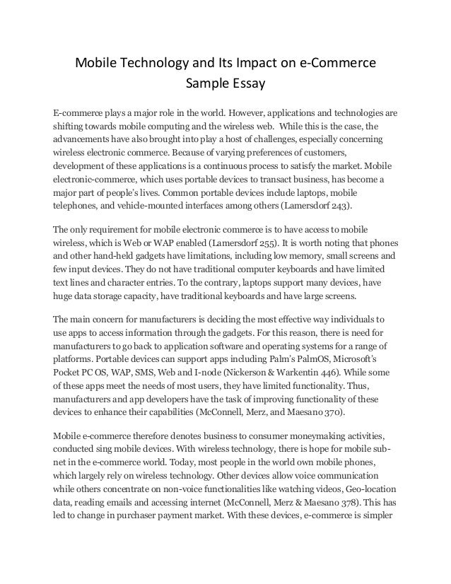 Mobile technology essay