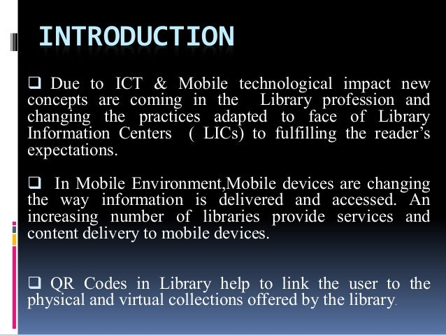 The library services resources and facilities