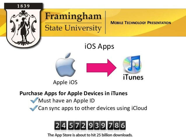 MOBILE TECHNOLOGY PRESENTATION                        iOS Apps            Apple iOSPurchase Apps for Apple Devices in iTun...