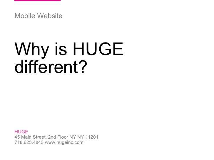 06/03/09 HUGE   /  ParentsConnect  / HUGE 45 Main Street, 2nd Floor NY NY 11201 718.625.4843 www.hugeinc.com Mobile Websit...
