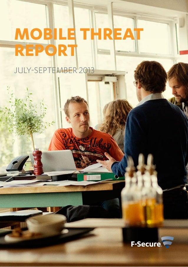 MOBILE THREAT REPORT July-September 2013