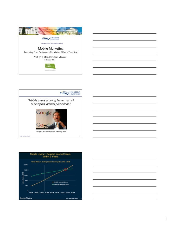 Studying the international way                            Mobile Marketing       Reaching Your Customers No Matter Where T...