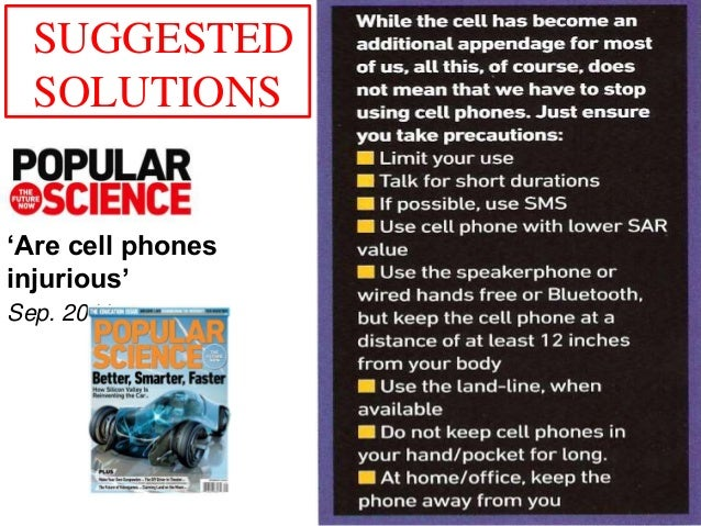 conclusion mobile phone and rf radiation Electromagnetic fields and public health to a centimetre at the frequencies used by mobile phones rf energy is absorbed in the page 4 of 7 health risks associated with radiation from mobile phones and base stations, the health.
