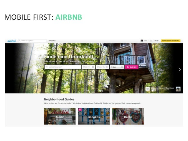 MOBILE FIRST: AIRBNB