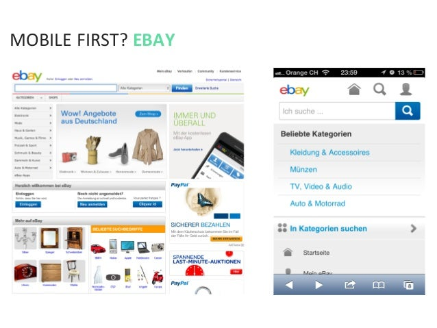 MOBILE FIRST? EBAY