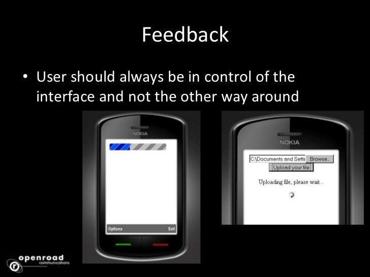 Mapping<br />What the user expects to happen when they interact with the interface is exactly what should happen<br />