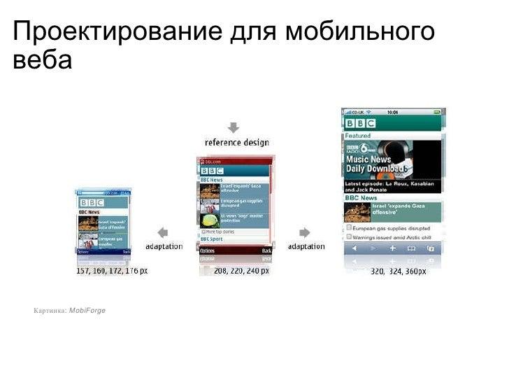 Проектирование  для  мобильн ого  веб а Картинка:  Mobi F orge
