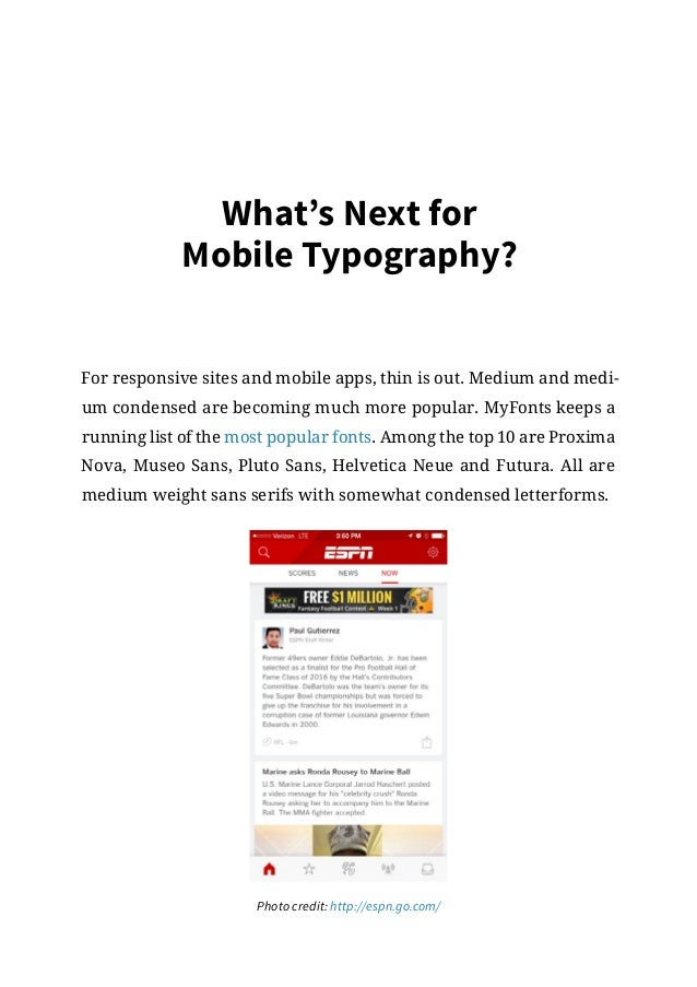 Mobile ui trends present future – meaningful mobile typography