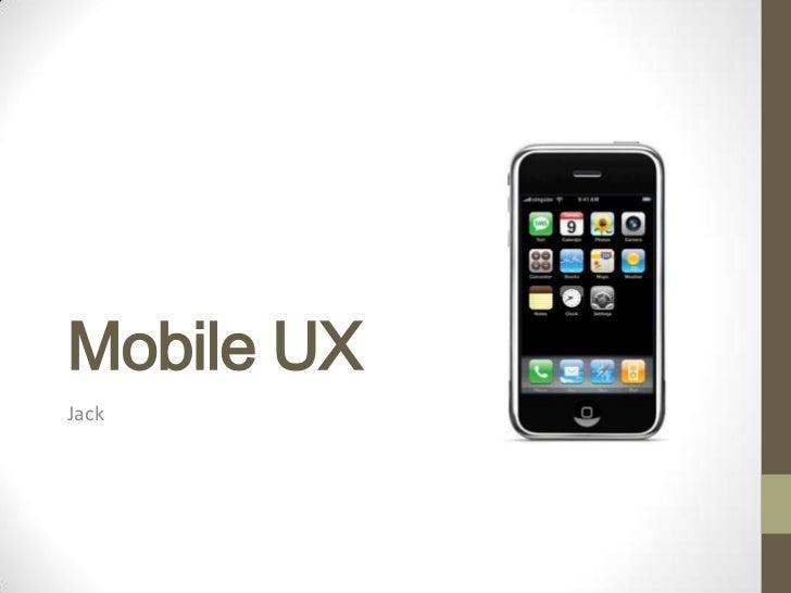 Mobile UXJack