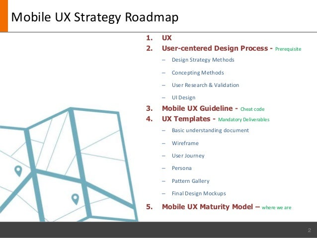 Mobile UXCOE - Ux roadmap template