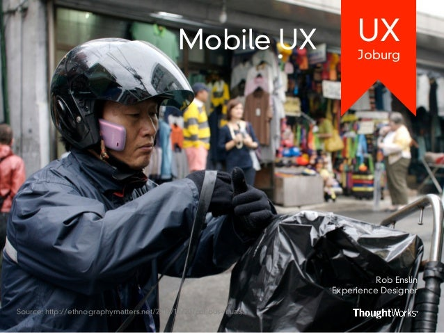 Mobile UX                   UX                                                                         Joburg             ...