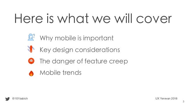 Designing the Mobile User Experience Slide 3