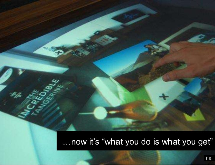 """110<br />Wireframe<br />…now it's """"what you do is what you get""""<br />"""