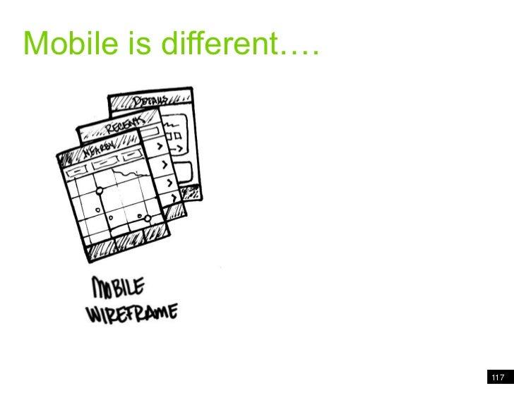 Mobile is different….<br />117<br />Mobile is different<br />