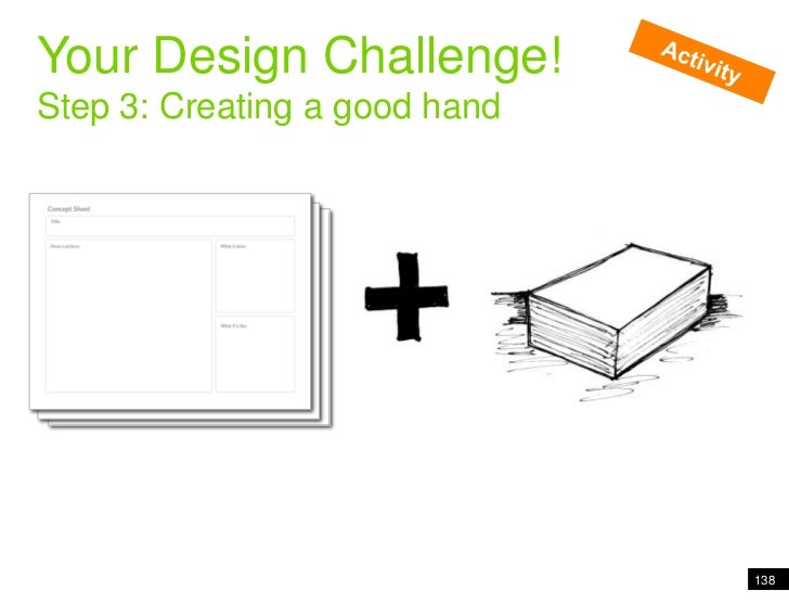 Pivoting people through information<br />Your Design Challenge!<br />Step 3: Creating a good hand<br />Activity<br />138<b...