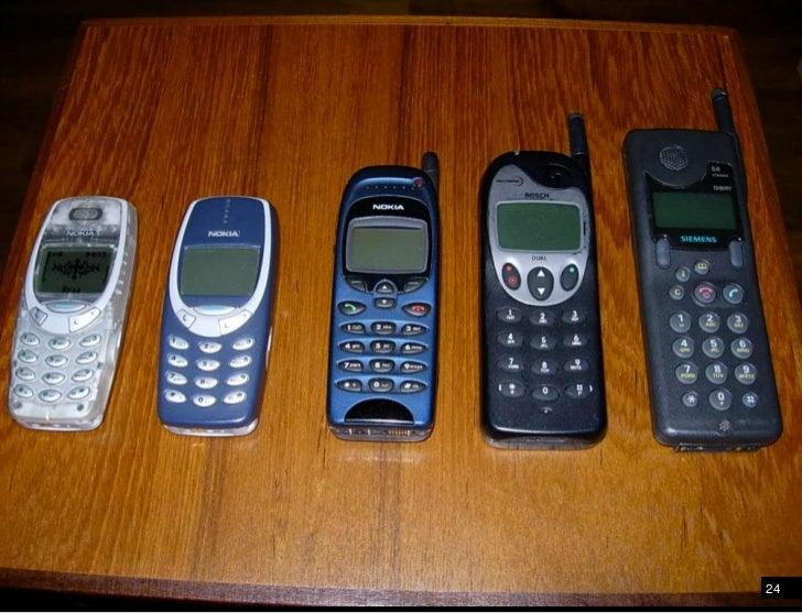 Mobile phones evolved from the landline phone<br />24<br />