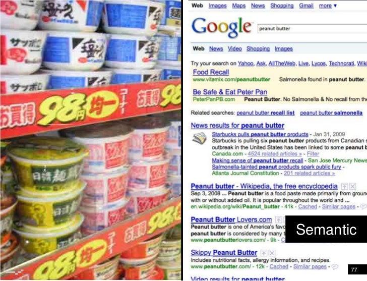 Google: Facebook<br />Semantic<br />77<br />
