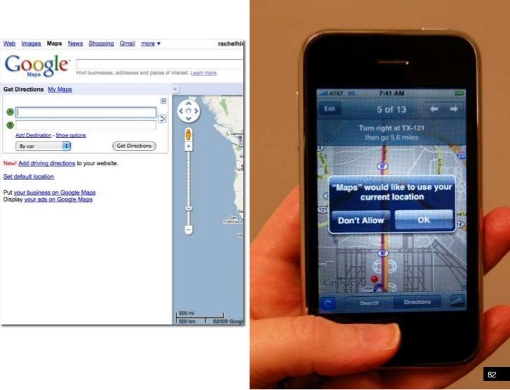 82<br />Google maps - PC vs. Mobile<br />