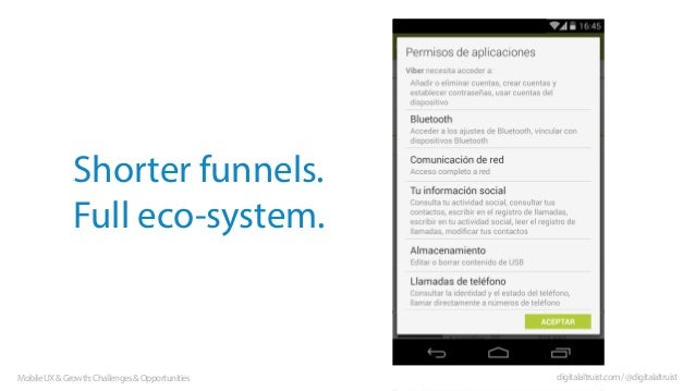Shorter funnels. Full eco-system.  Mobile UX & Growth: Challenges & Opportunities  digitalaltruist.com / @digitalaltruist