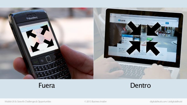 Fuera Mobile UX & Growth: Challenges & Opportunities  Dentro © 2013 Business Insider  digitalaltruist.com / @digitalaltrui...