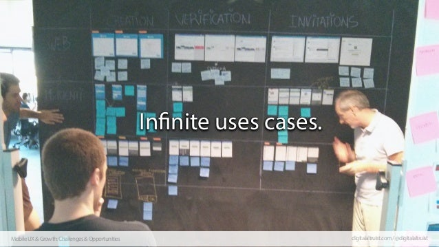Infinite uses cases.  Mobile UX & Growth: Challenges & Opportunities  digitalaltruist.com / @digitalaltruist