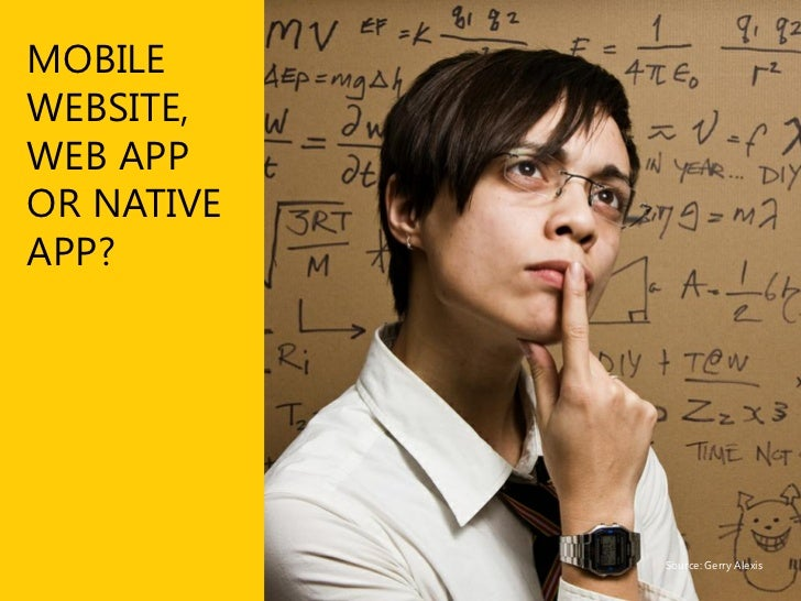 What are the differences? In case you were wondering…  ■ Mobile optimised website       An iteration of your desktop site ...