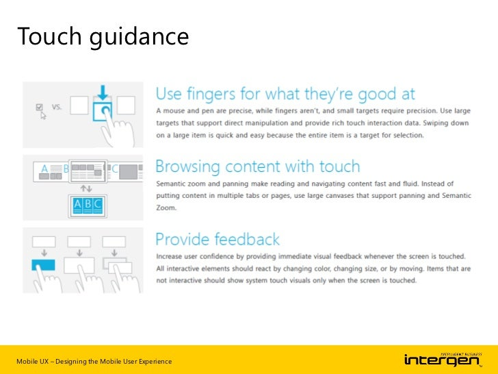 Content over navigationMobile UX – Designing the Mobile User Experience