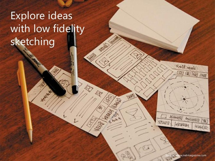 Validatedecisions withpaperprototyping                 Source: Rachel Hinman – The Mobile Frontier