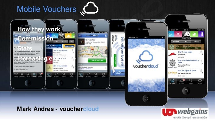 Mobile Vouchers<br />How they work<br />Commission<br />Stats<br />Increasing exposure<br />Mark Andres - vouchercloud<br />