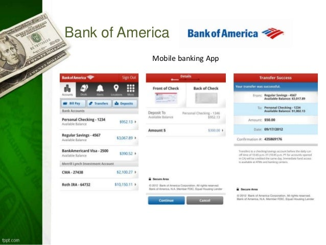 case analysis bank of america mobile banking Of all the divisions that operate in bank of america, small business banking and  global consumer are the biggest consumer banking and.