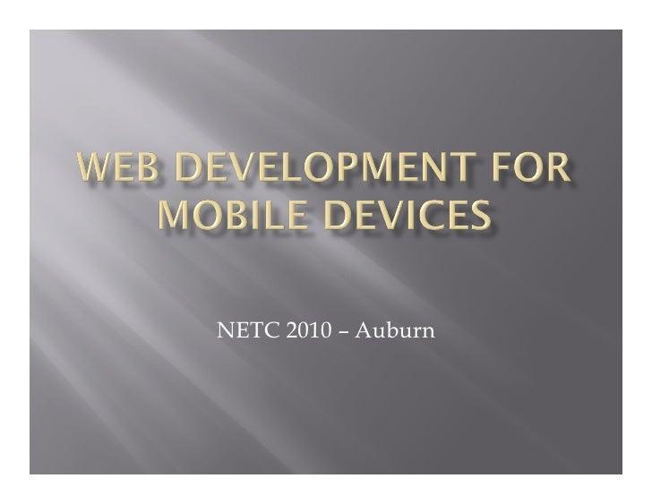 NETC 2010 – Auburn