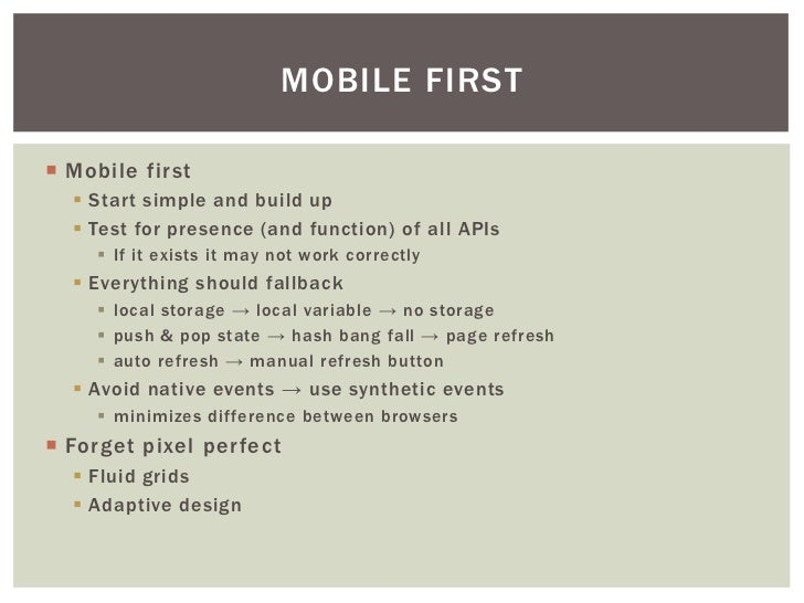 Mobile Web Best Practices