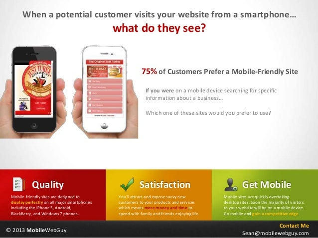 When a potential customer visits your website from a smartphone…                                              what do they...