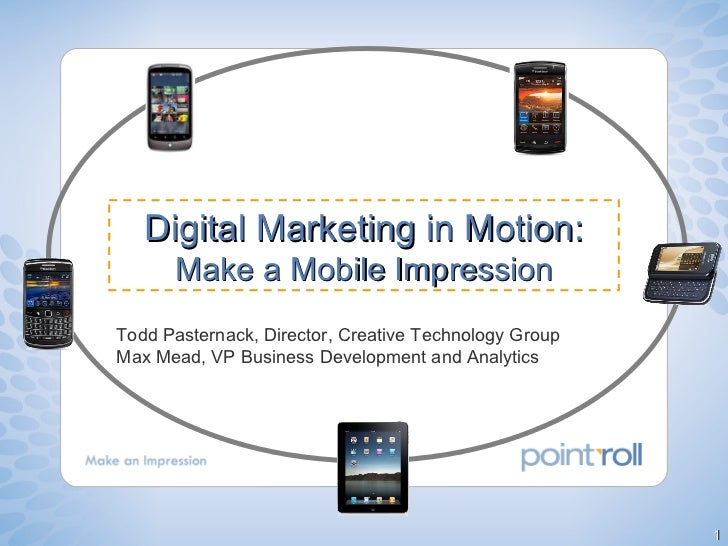 Todd Pasternack, Director, Creative Technology Group Max Mead, VP Business Development and Analytics Digital Marketing in ...