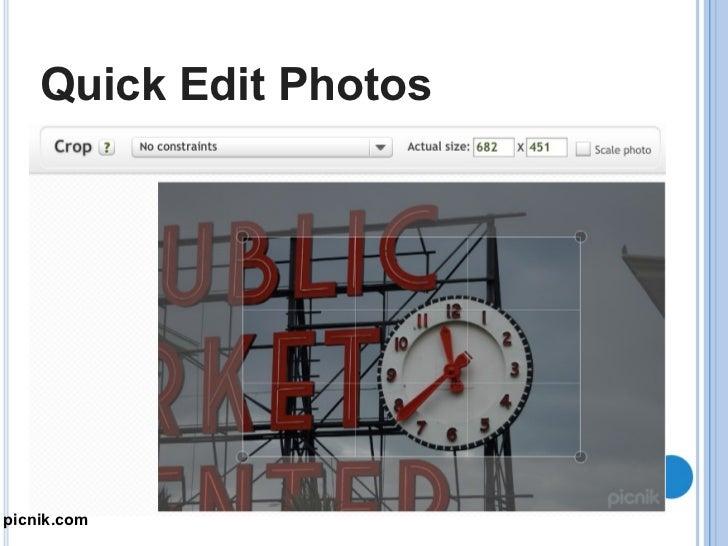 Quick Edit Photos Piknik.com picnik.com