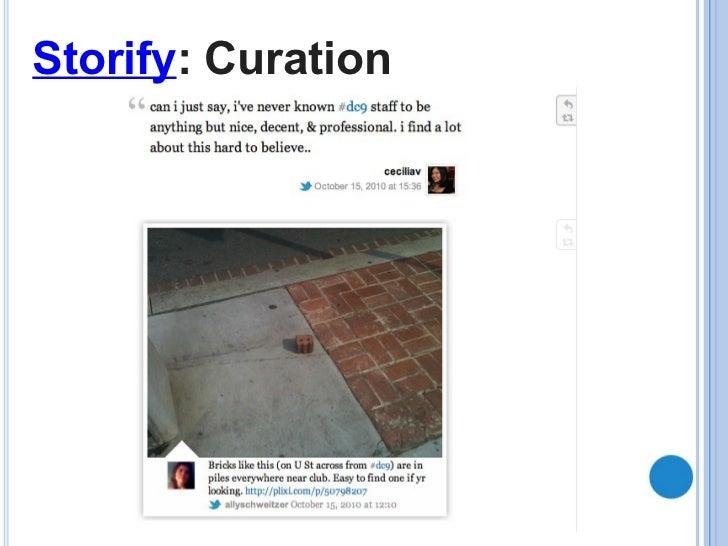 Storify : Curation