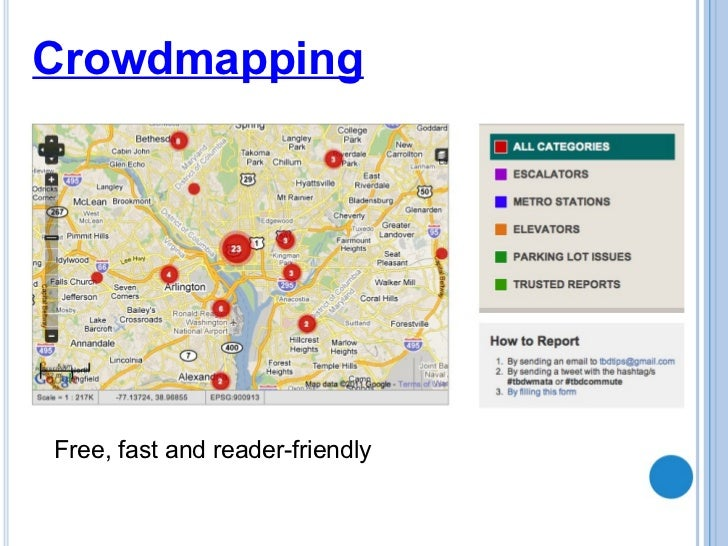 Crowdmapping Free, fast and reader-friendly