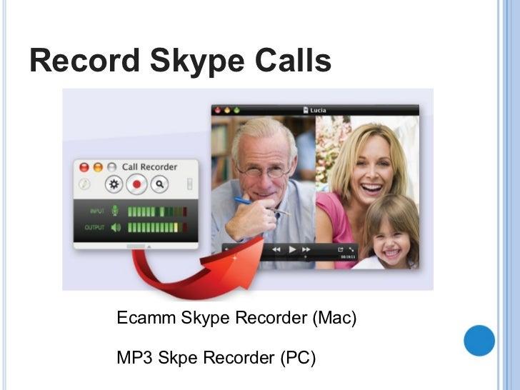 Record Skype Calls Ecamm Skype Recorder (Mac) MP3 Skpe Recorder (PC)