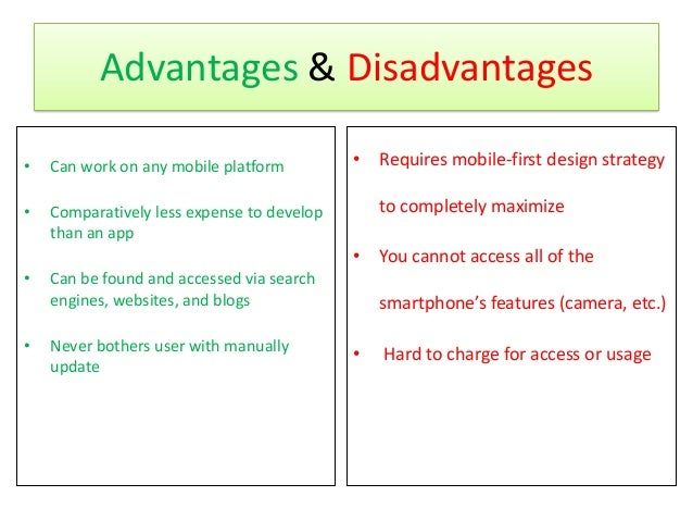What are the advantages and disadvantages of mobile phone?