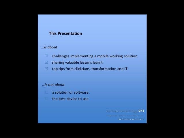 Mobile Workforce Transformation Slide 3