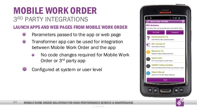 Mobile Work Order Solutions For High Performance Service