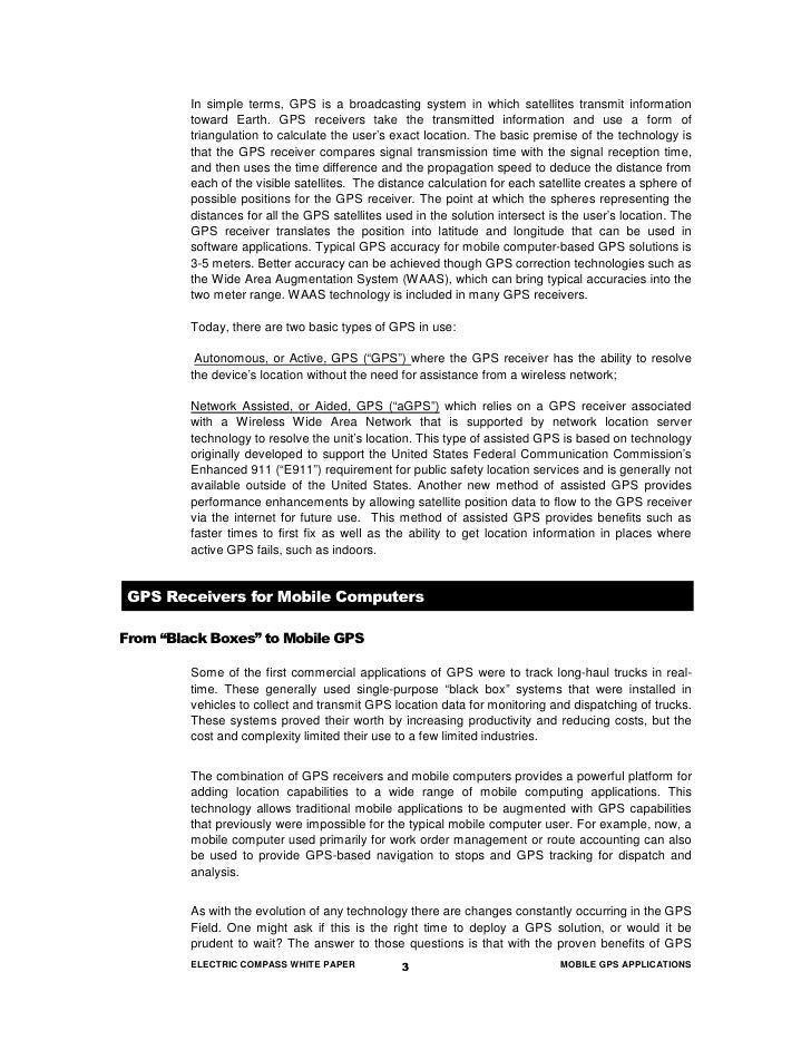 Mobileworxs Ec Mobile Gps Applications White Paper[1]