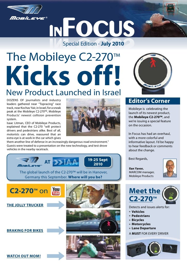 Mobileye July (Special Edition) Newsletter